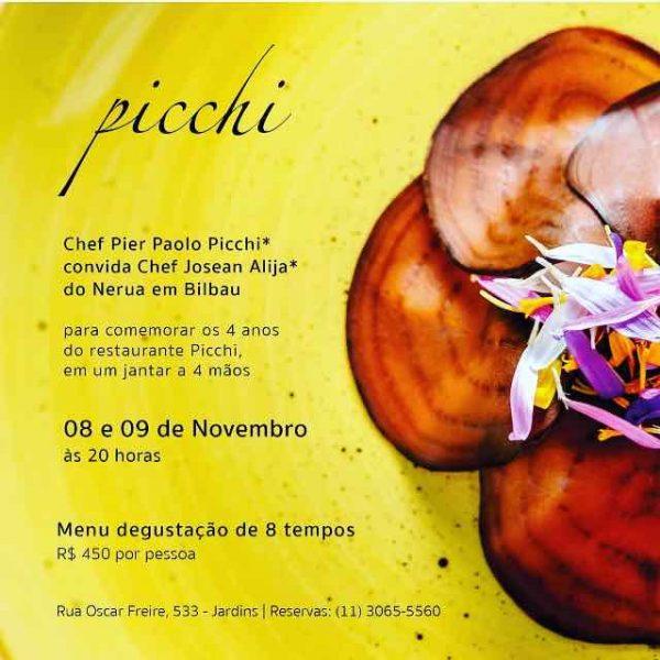 Menu degustação Pichi